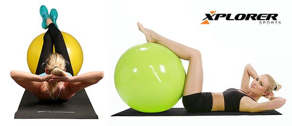 banner vježbe pilates lopta