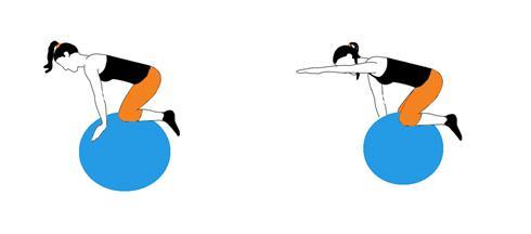 Stabilnost na pilates lopti