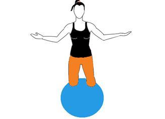 Ekspert stabilnost na pilates lopti